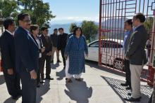 Visit of Hon'ble Secretary (SE&L), MHRD Ms. Rina Ray at KV Aizawl on 8th December 2018
